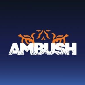 AMBUSH logo with tiger eyes