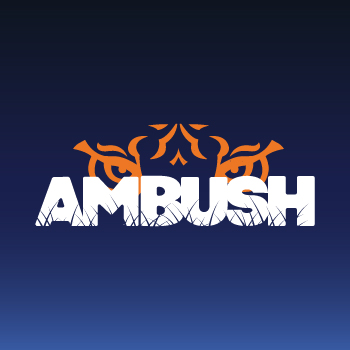 AMBUSH logo with tiger eyes