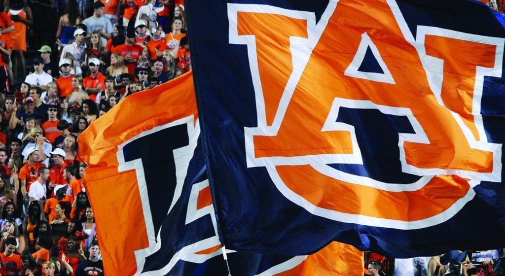 Auburn Logo on Flags