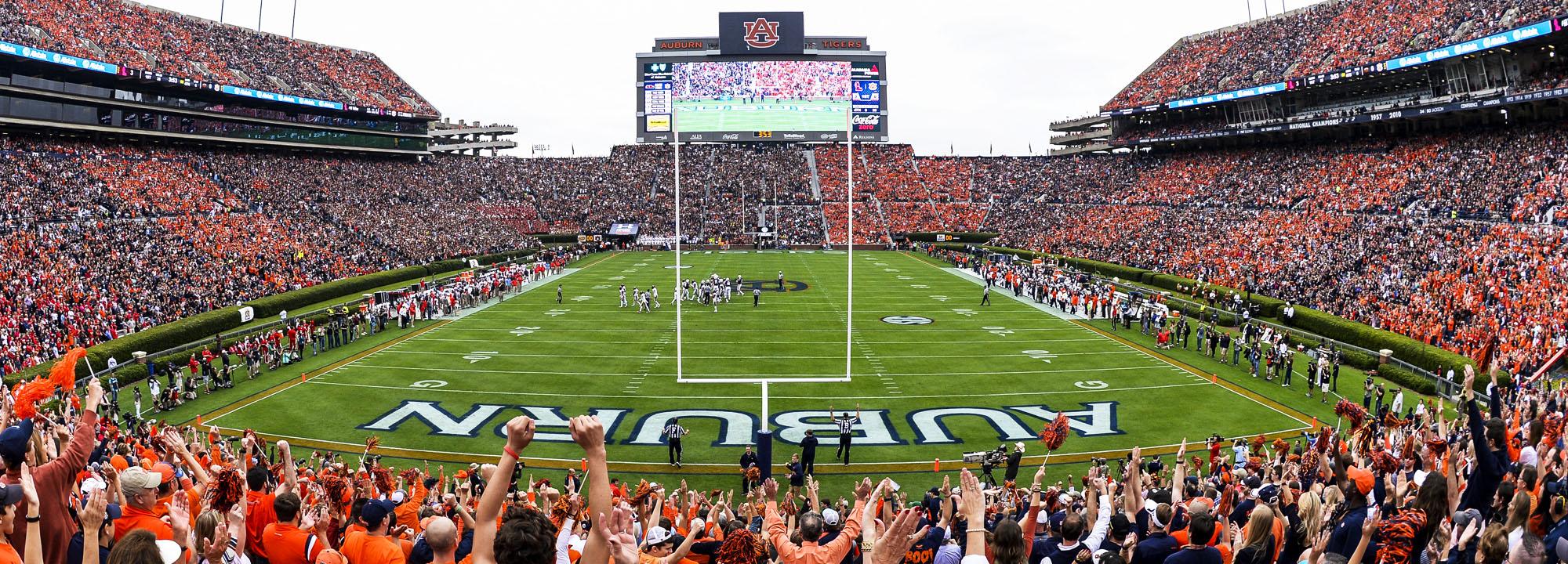 Panoramic View of Football Stadium