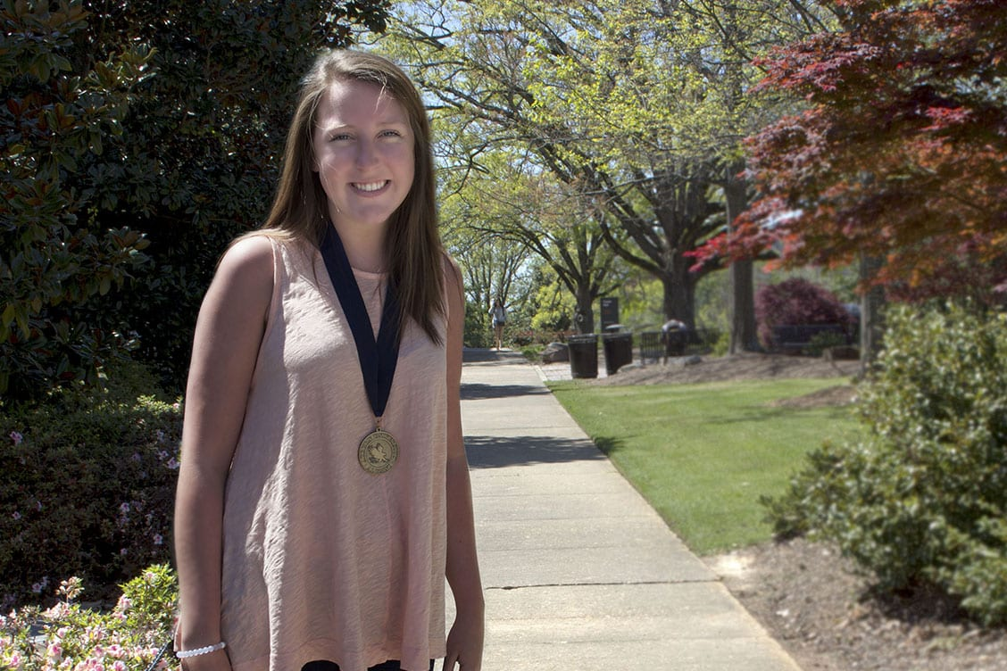Student with a Medallion