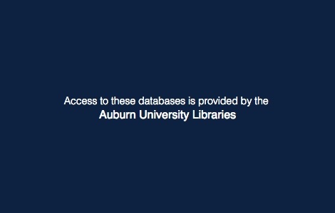 Access Provided by Auburn University Libraries