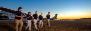 Taking Flight - AU Flight Team students