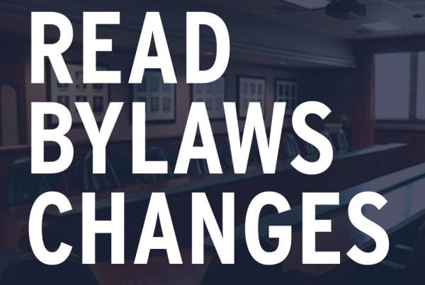 Read Bylaws Changes