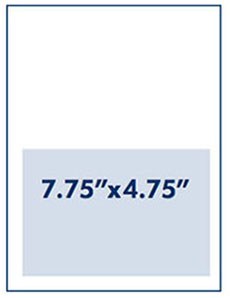 Half Page Ad Measurement 7.75 inches by 4.75 inches