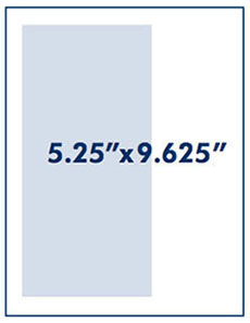 Two-Thirds Vertical Page measurement 5.25 inches by 9.625 inches