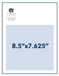 Two-Thirds Horizontal Page Advertisement Measurement 8.5 inches by 7.625 inches