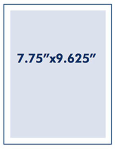 Full Page Ad Measurement 7.75 inches by 9.625