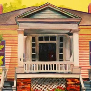 Painting of a Home, Image on The Arts page with a link to the Center for Arts and Humanities.
