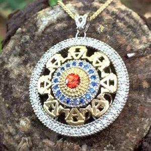 Auburn Logo Jeweled Necklace