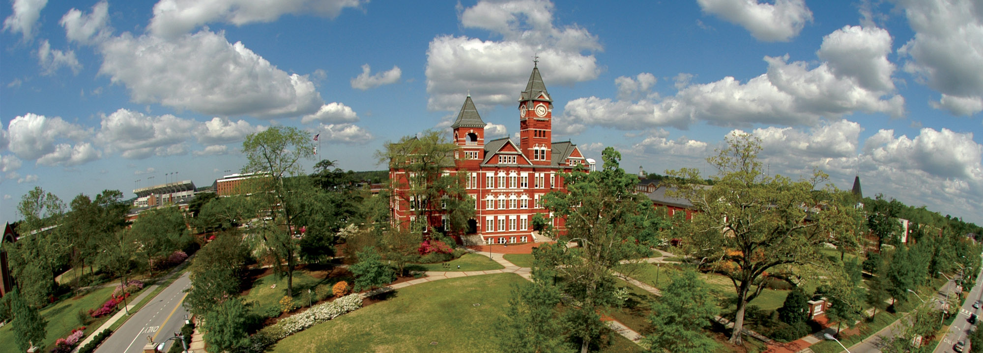 Samford Hall from Drone view