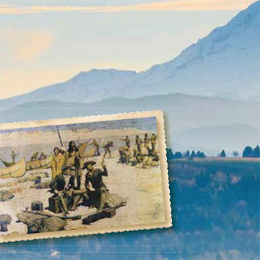 Lewis and Clark - Old stamp photo