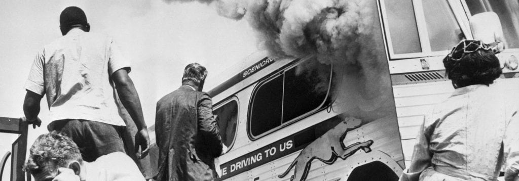 freedom-riders Bus on Fire