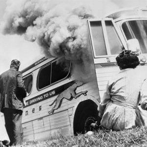 FreedomRiders Bus on Fire