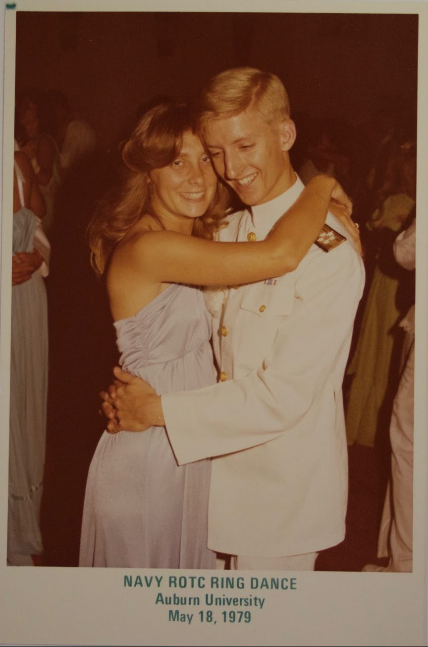 Jim and Jan Holt dance at the NTORC ball in 1979