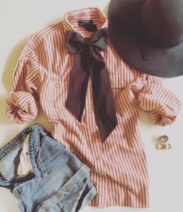 Drew Tipton Faith + Bows promo, outfit of the day