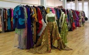Drew Tipton Ebony Fashion Show 09, colorful clothing racks