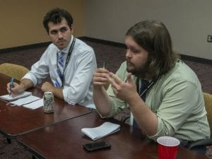 Andrew Yawn with Drew Taylor of the Montgomery Advertiser