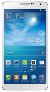 An Android Phone highlighting the app