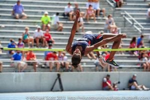 Maya Pressley High Jump Action