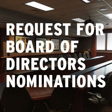 Request for Board of Directors Nominations - conference table