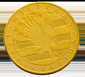 Veteran Alumni Coin Back - War Eagle