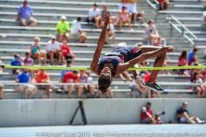 Maya Pressley High Jump - Action Shot