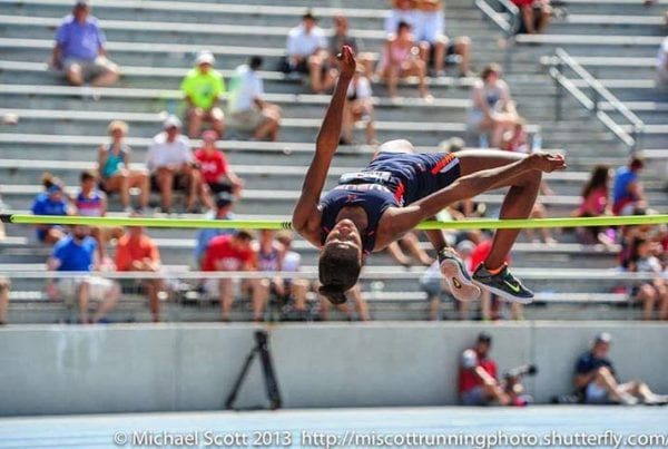 Maya Pressley High Jump - Action Shot