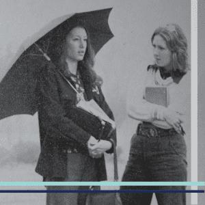 Glom photo of two women Auburn students