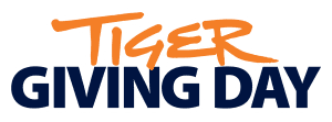 Orange and Blue Tiger Giving Day Logo - Text