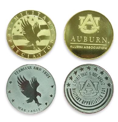auburn military coins