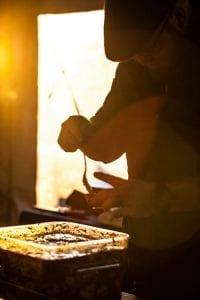 Leonardo Maurelli preparing food