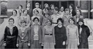 Members of the 1930 Home Economics Club pose.