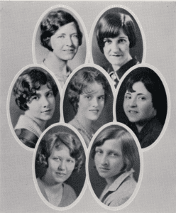 Members of the 1930 Pan-Hellenic Council are featured in the Glomerata.