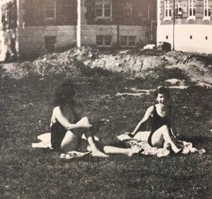 Sunbathing in the Quad, 1942