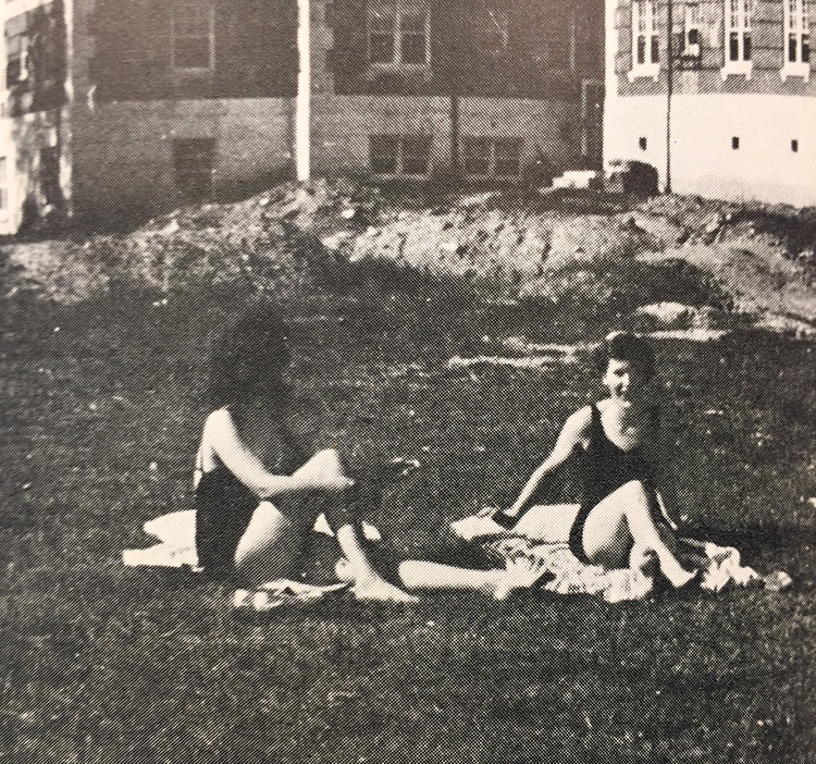 Sunbathing in the Quad, 1942