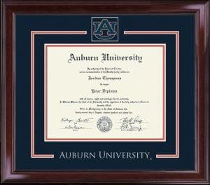 An Auburn University Diploma Frame