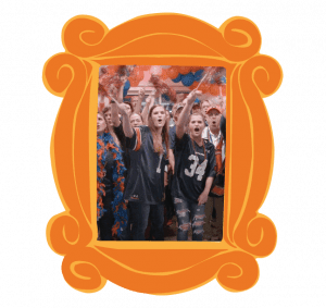 Auburn Fans cheering in a picture frame
