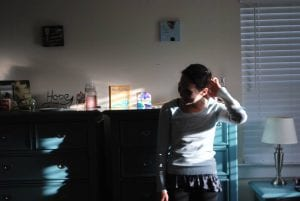 Rebecca Caine in treatment, photo taken by Savannah Weatherell.