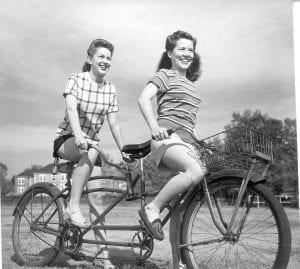 Auburn women on bike