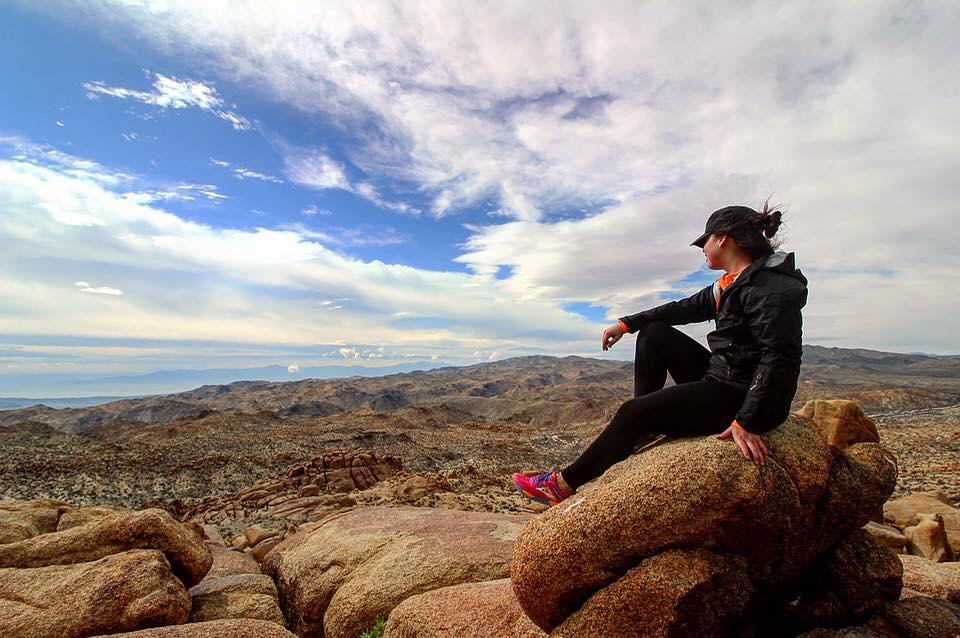 Jennifer Giddens '16 on a trek.