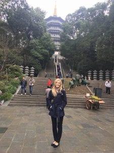 Courtney Edwards '14 in China