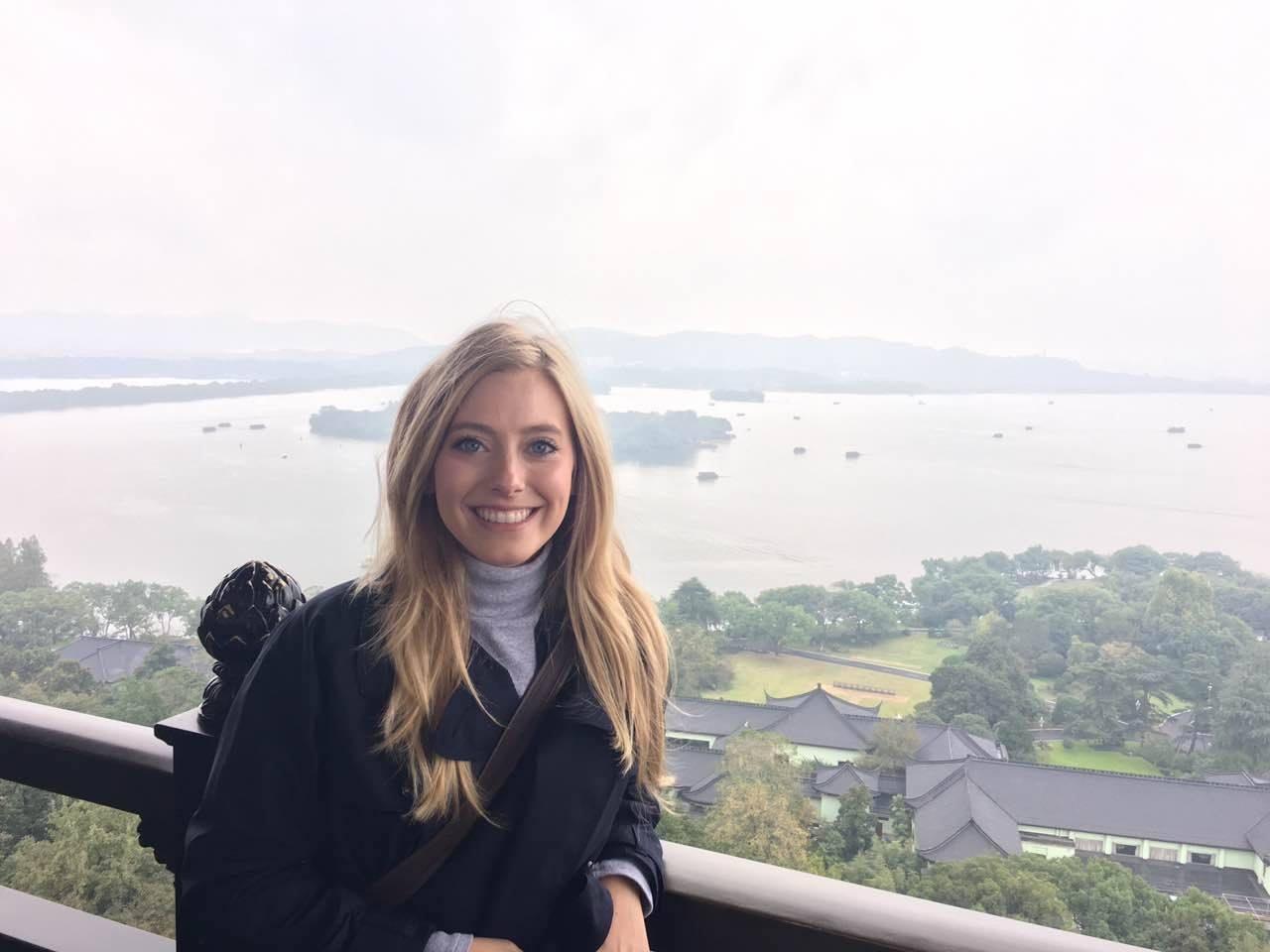 Courtney Edwards '14 in China.