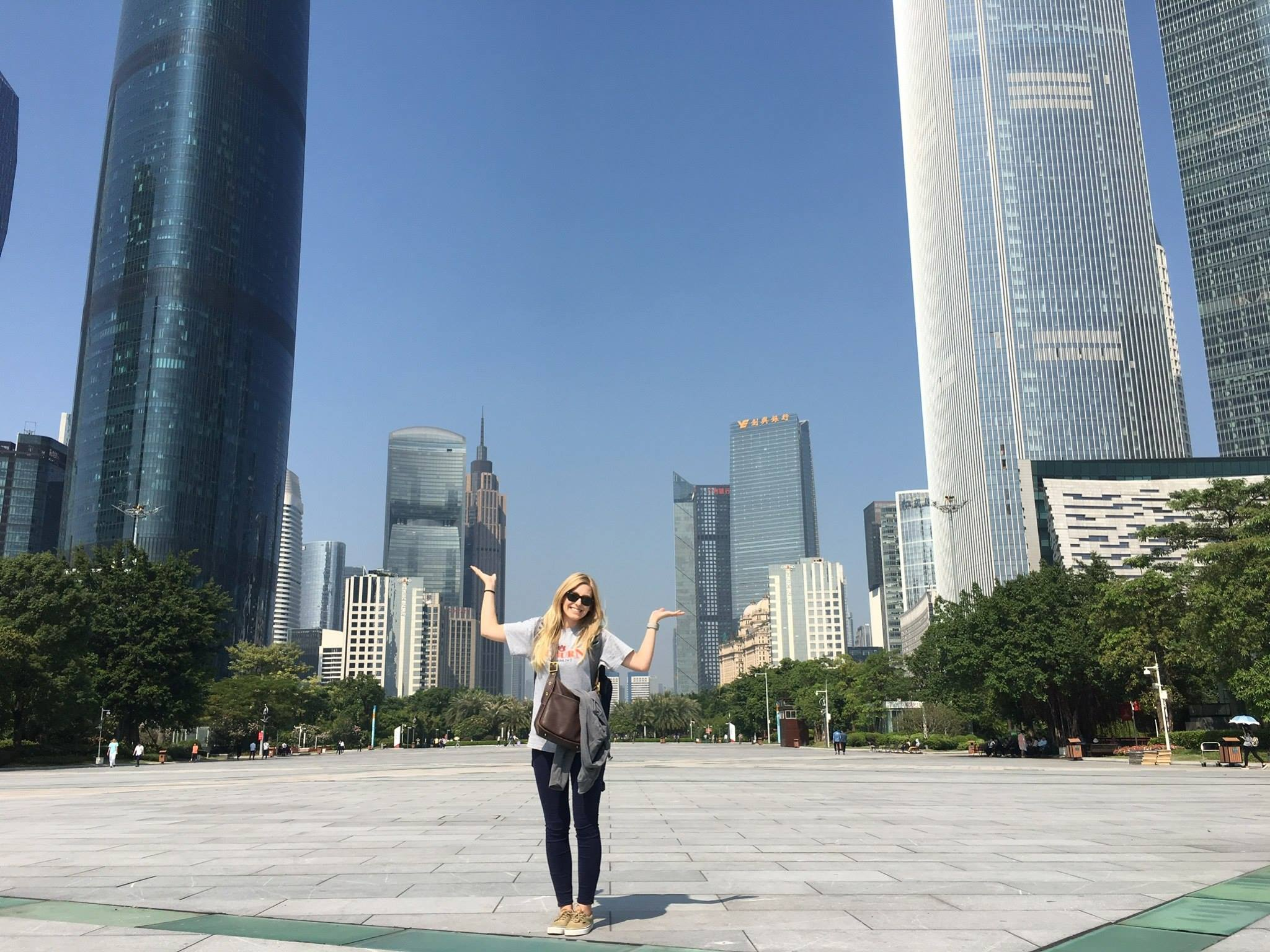 Courtney Edwards '14 in China