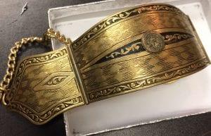 Bracelet with Flap open