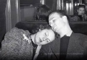 1938 Couple on a train