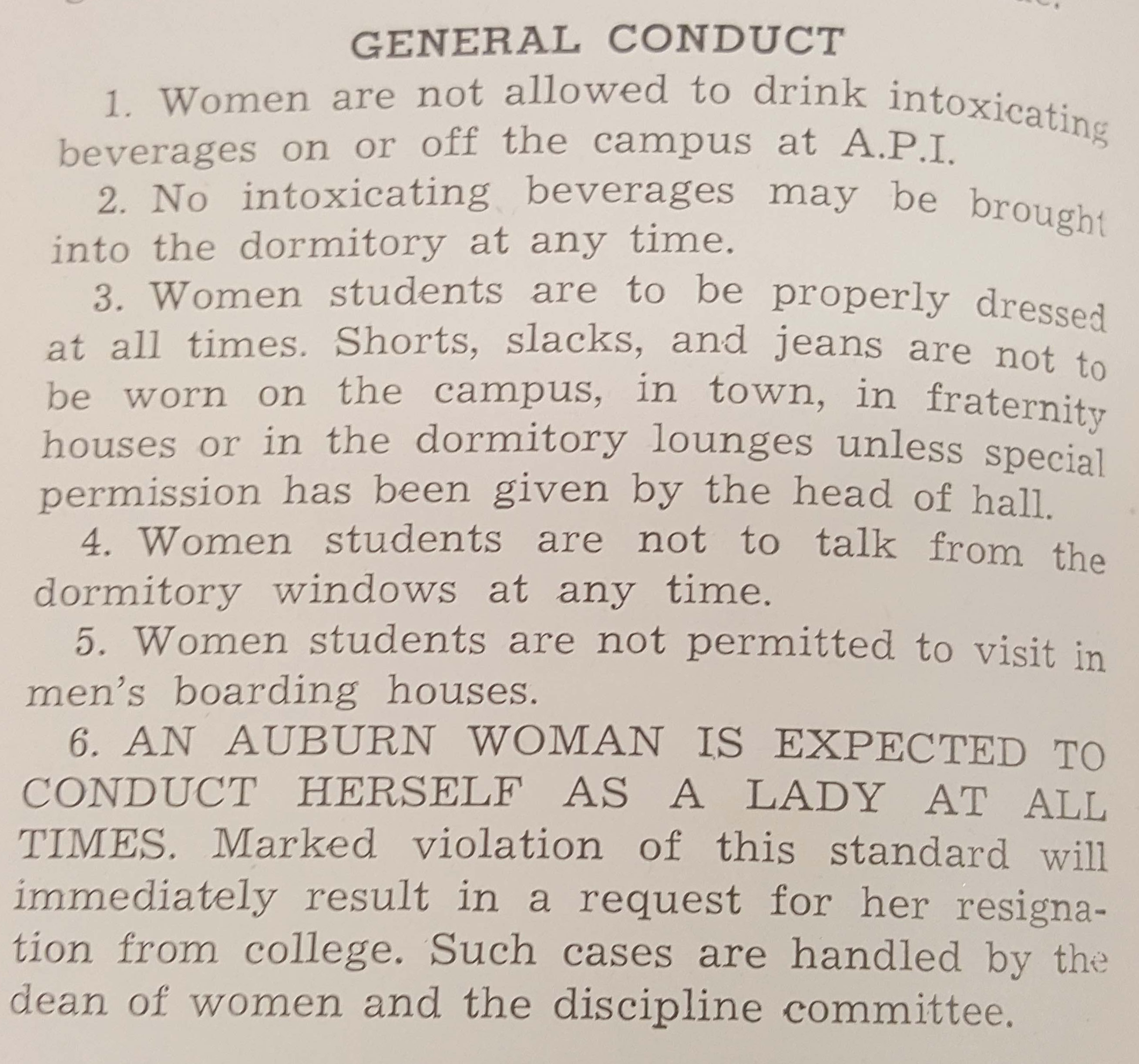 1947 General Conduct