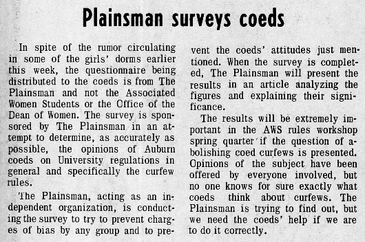 Coed Survey Feb. 1970
