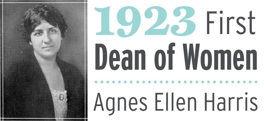 Agnes Ellen Harris 1923 first dean of women