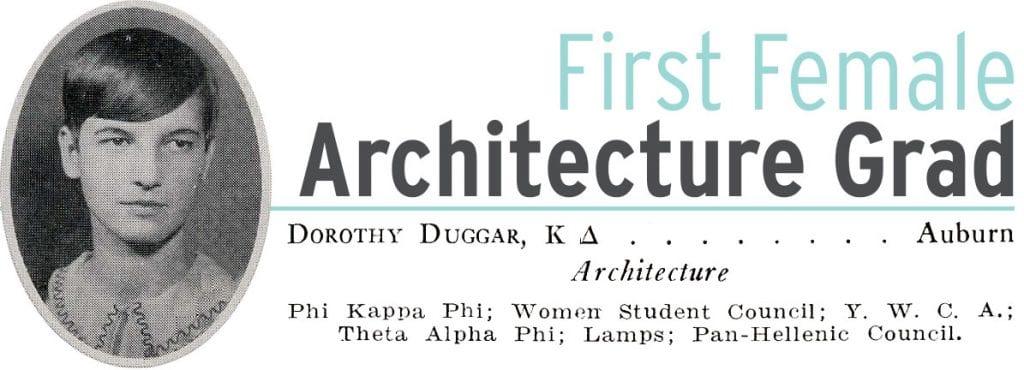 First Female Architecture Grad Dorothy Duggar